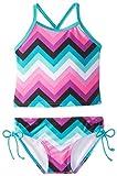 Kanu Surf Baby Girls' Olivia Chevron Tankini, Purple/Multi, 12 Months