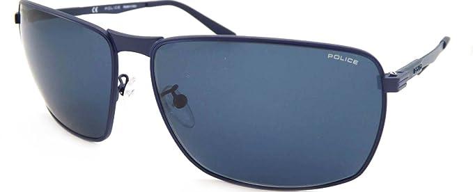 Police Gafas de sol COURT 2 SPL345 1HLP unisex azul cuadrado ...