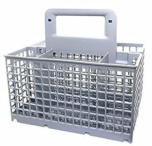 Whirlpool - Hidromasaje 481231038897 cesto de los cubiertos para lavavajillas (gris)