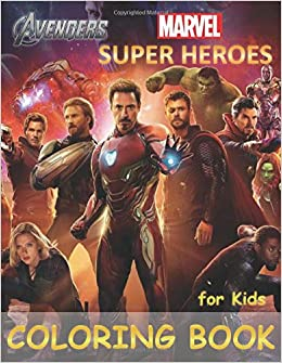 Super Heroes Marvel Avengers Coloring Book For Kids For Boys Girls 38 High Quality Illustrations Jim Books Ltd 9781690946427 Amazon Com Books