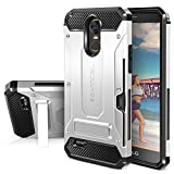 LG G Stylo 3 Case, Evocel [Explorer Series Pro] Premium Dual Layer Protector with Credit Card Slot and Metal Magnetic Kickstand for LG G Stylo 3 (2017 Release), Silver (EVO-LGSTYLO3-CK06)