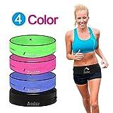 Aodor Running Belt Waist Pack - Reflective Strips - for Men Women to Enjoy Workout - Large Pocket