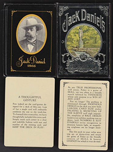 Jack Daniel's Distillery Whiskey deck of playing cards antique design 1972