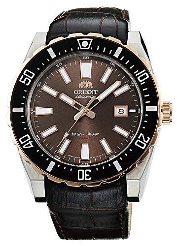 (ORIENT Sporty Automatic 200M Watch 2 Tone Rose Gold Brown FAC09002T )