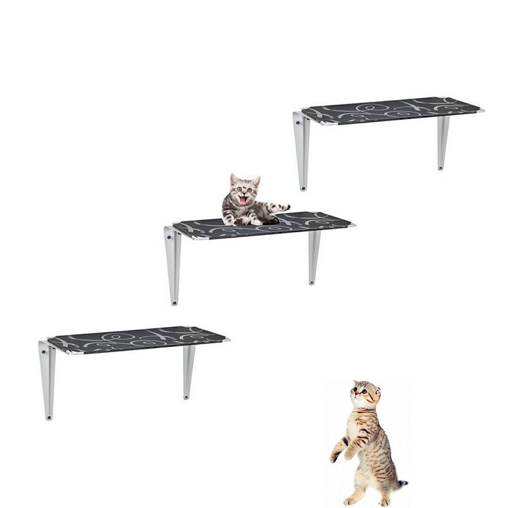 Discoverme8 3pcs cat step cloud shelves board wall mounted kitten climber wall tree toys for - Wall mounted cat climber ...