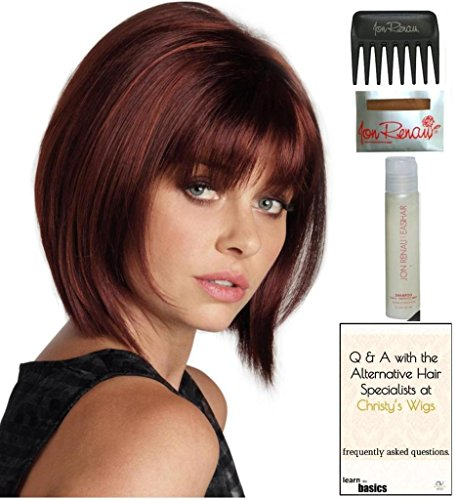 Ricky (formerly Romance) Wig by Revlon, 15 Page Christy's Wigs Q & A Booklet, 2oz Travel Size Wig Shampoo, Wig Cap & Wide Tooth Comb COLOR SELECTED: 8R - Q Fashion Locations
