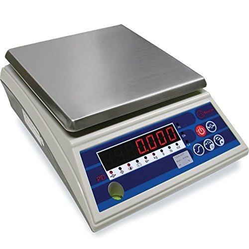 Baxtran PD6LED Tischwaage, Wä gebereich 6 kg, Genauigkeit 1 g, 17,6 x 17,6 cm Giropes
