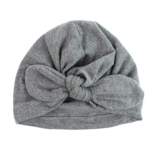 Baby Hats,Elevin(TM) Newborn Baby Girl Cute Lovely Soft Cute Hat Hospital Bohemia Hat (Gray 1)