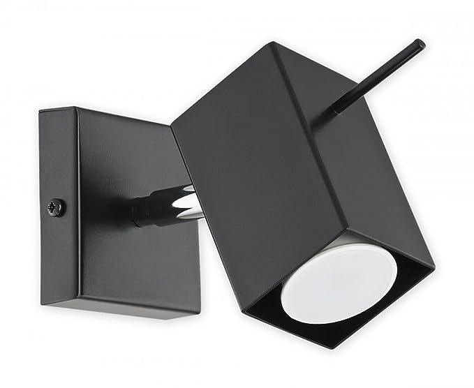 Plafoniere Inox Soffitto : Plafoniera lampada da parete in acciaio inox orientabile spot