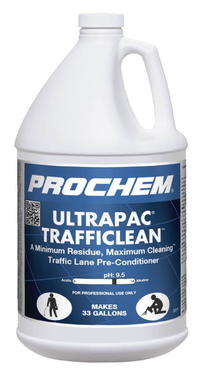 Ultrapac Trafficlean S711 Professional Traffic Lane Cleaner for Heavily Soiled Commercial Floors, 1 Gal, 4 Pk by Prochem