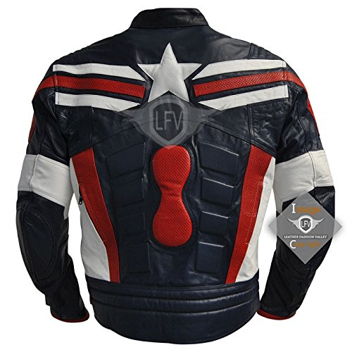 e0d2097c4b7 Chaqueta de moto del Capitán América
