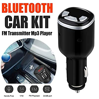DEESEE(TM) NewCar Kit FM Transmitter Wireless Radio Adapter USB Charger Mp3 Player