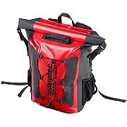 Semptec Urban Survival Technology Fahrradtasche: Wasserdichter Trekking-Rucksack aus LKW-Plane, 20 Liter, IPX6…