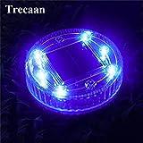 Blue : Trecaan 6leds Floating Pond Light Solar IP68 Waterproof Underground LED Outdoor