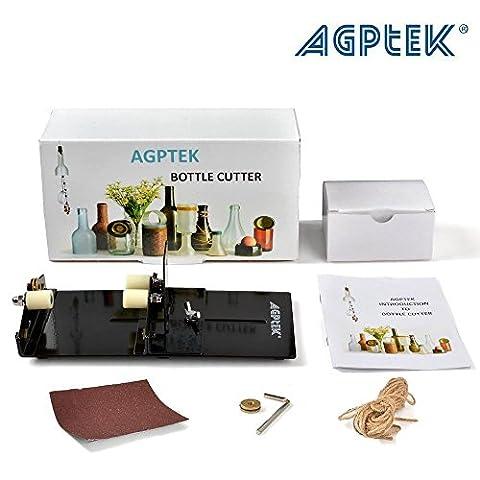 Glass Cutter AGPtEK Glass Bottle Cutter Machine Wine Bear Bottle Jars Cutting Tool - Cutting (Modello Di Olio Di Vetro Lampada)