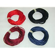 2mm Rattail Satin Cord for Kumihimo 4 6 Yard Pieces 24 Yards Per Package - Dark Mix