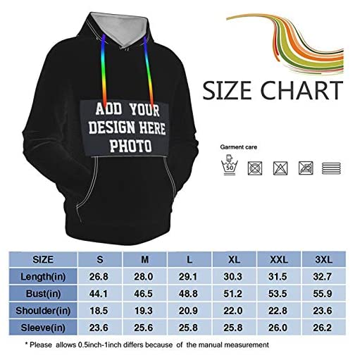 Design Your Custom Hoodie Own Text, Design & Number Front/Back/Sleeves, Heavy Blend Fleece Sweatshirt Black |