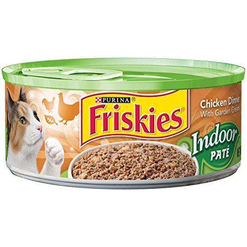*Purina Friskies Indoor Pate Chicken Dinner with Garden Greens Cat Food 5.5 oz. Can