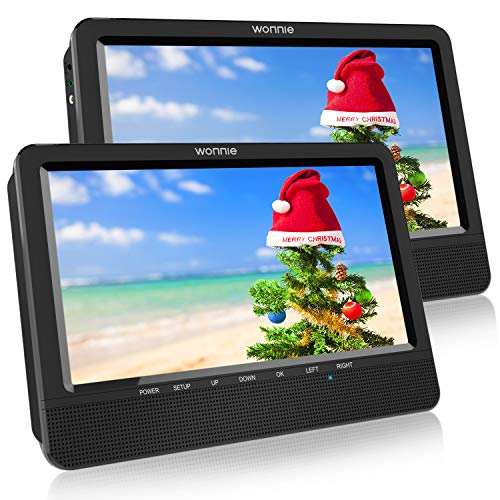 WONNIE 10.5'' Dual Portable DVD ...
