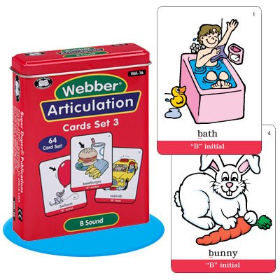 Super Duper Publications Set of 7 Webber Articulation Card Decks with Animal Artic Pairs (Combo Set 3) Educational Learning Resource for Children by Super Duper Publications (Image #2)