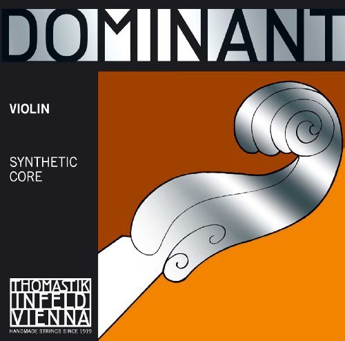 String Chrome Steel - Thomastik-Infeld 135BST Dominant Violin Strings, Complete Set, 135B, Stark (Heavy) Tension, 4/4 Size, With Chrome Steel Ball End E String