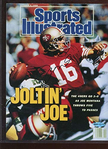 Joe Montana Autographed Photo/Sports Illustrated Cover Upper Deck - Autographed NFL Magazines