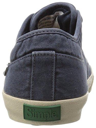 Einfacher Herren Wingman-D Fashion Sneaker Marine Leinwand