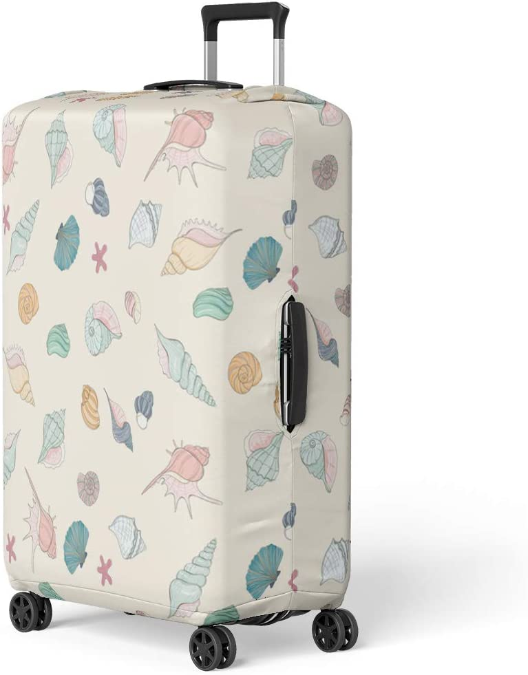 Pinbeam Luggage Cover Abstract Painting of Charms and Magic Dreams Fantasy Travel Suitcase Cover Protector Baggage Case Fits 18-22 inches