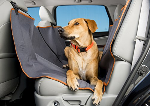Dog Car Hammock – Back Seat Cover for Dogs – Waterproof – Use Mat on Car Seat or Bench Seats – Large Size Protects Most Cars, SUV, or Trucks