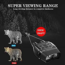 JASTON Night Vision Goggles Hunting Night Vision Binoculars - Infrared Binoculars with Night Vision can Take HD Image & 960p Video from 300m/984ft in The Dark with 32 Memory Card