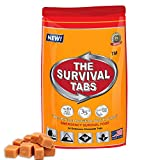 Survival Tabs 100% USRDA 2-day Nutrition Emergency Food Supply - Long Term Food Storage Hurricane Disaster Preparation - MRE Gluten Free and Non-GMO 25 Years Shelf Life - Butterscotch Flavor