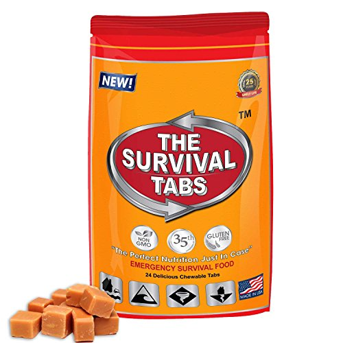 Mesoamerican Ball Game - Mesoamerican ballgame Survival Tabs 2-day Food Supply 24 Tabs Emergency Food Ration Survival Food Replacement Gluten Free and Non-GMO 25 Years Shelf Life Long Term Food Storage - Butterscotch Flavor