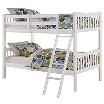 Image of Home and Kitchen Angel Line Fremont Twin Over Twin Bunk Bed, White