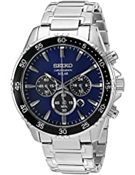 Seiko Mens Chronograph Quartz Stainless Steel Dress Watch (Model: SSC445)