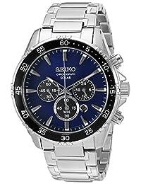 Seiko Men's SSC445 Chronograph Analog Display Japanese Quartz Silver Watch