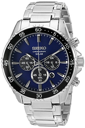 Seiko Men's 'Chronograph' Quartz Stainless Steel Dress Watch (Model: SSC445) (Seiko Watches For Men Ssc)