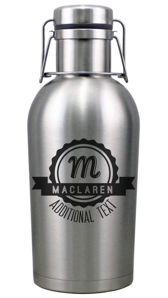 Personalized Etched 64oz Insulated Stainless Growler