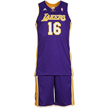 35e604034 adidas Children s Jersey Set   16 Gasol LA Lakers NBA Basketball O29559