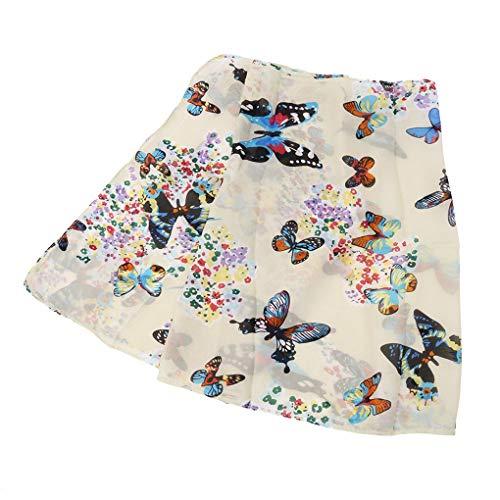 Yevison Premium Lady Women Butterfly Print Chiffon Soft Scarf Scarves Sheer Wrap Shawl