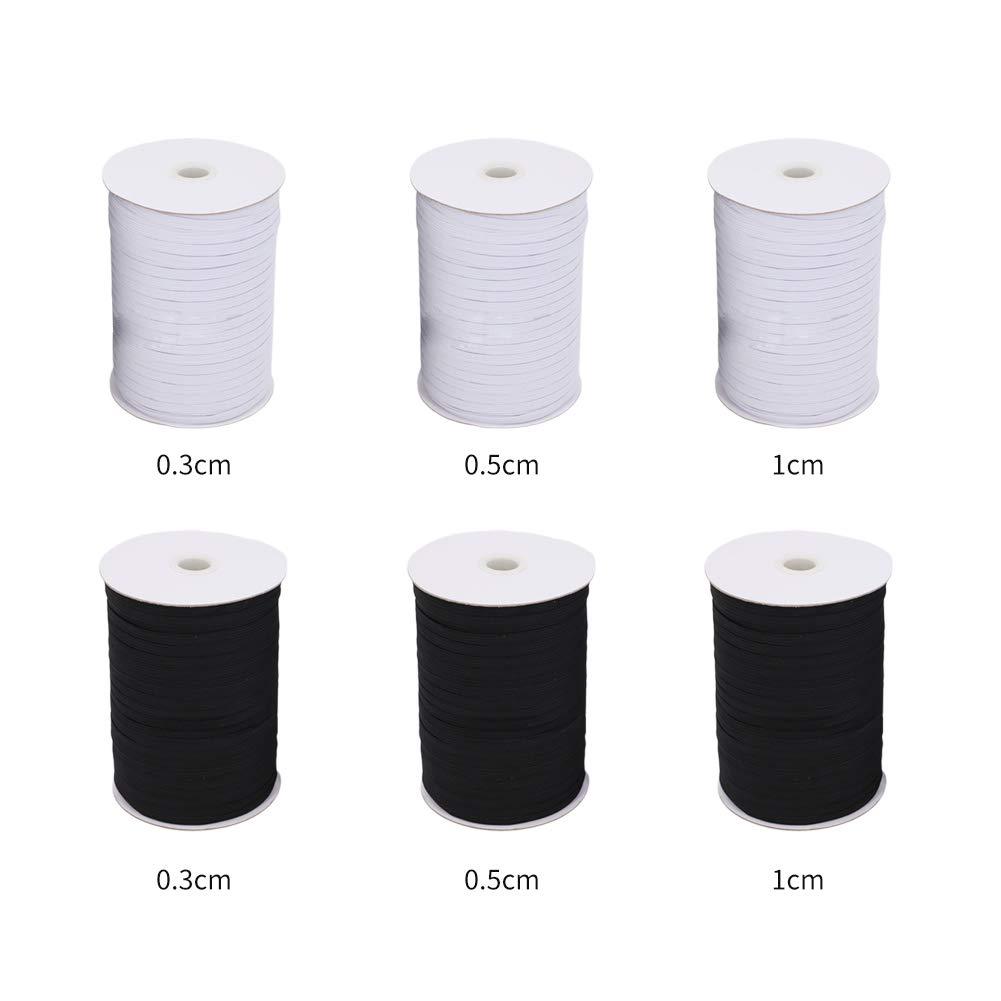 0.3cm Pantalones Lavable Blanco Anna822 port/átil Costura Costura el/ástica Ropa Invisible Cinta el/ástica Ajustable para Manualidades Cintura