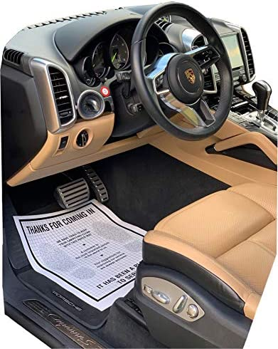 Moyishi Disposable Automotive Interior Protection Floor-Mate Eco-Barrier Recycled Paper Mat,Set of 50