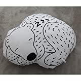Dovewill Kids Children Room Home Bedroom Decor Cute Sleeping Bear Soft Stuffed Cushion Pillow Gift Black & White