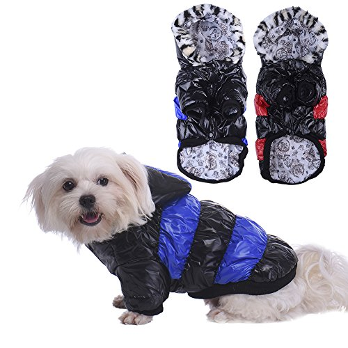 Warm Dog Cat Jumpsuit Cosy Pet Coat Fashion Hoodies to Keep Warm 5 Size Available(Red,S) (Clown Makeup Styles)