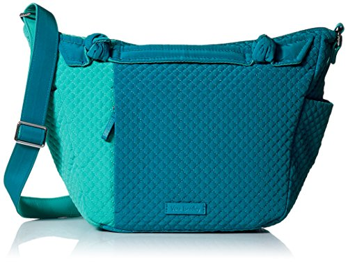 Vera Bradley Hadley on the Go Satchel, Microfiber, Bahama Bay and Turquoise Sea by Vera Bradley