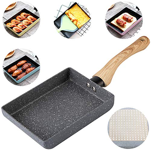 IBBM I WILL BE YOUR BEST MEMORY Tamagoyaki Japanese Omelette Pan/Egg Pan - Non-Stick Coating - Rectangle Frying Pan Mini Frying Pan - Grey