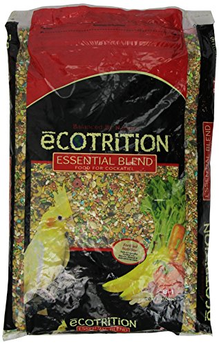 - Ecotrition Essential Blend Food For Cockatiels, 8 Pounds, Resealable Bag