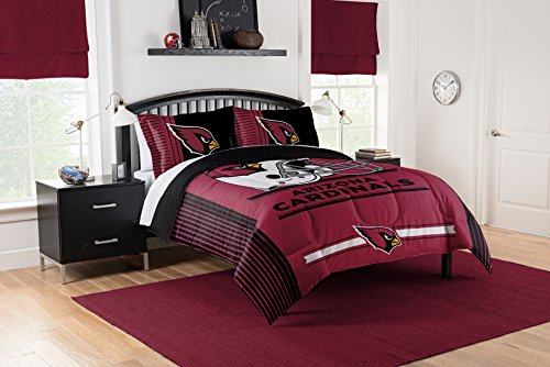 Arizona Cardinals Nfl Bed (Officially Licensed NFL Arizona Cardinals Safety Full/Queen Comforter and 2 Sham Set)