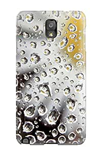 Galaxy Cover Case - Daisy Behind Wet Glass Protective Case Compatibel With Galaxy Note 3