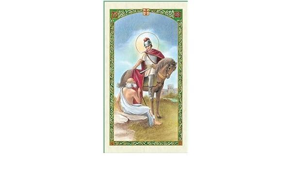 Amazon.com: San Martin Caballero San Martin De Tours Patron De Francia Y De Los Comerciantes Tarjeta De Rezo Bendecida Por Su Santidad: Jewelry