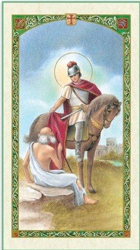 San Martin Caballero San Martin De Tours Patron De Francia Y De Los Comerciantes Tarjeta De
